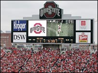 The Buckeye Stadium in Columbus, Ohio.