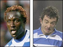 Reading's Ibrahima Sonko and Stephen Hunt