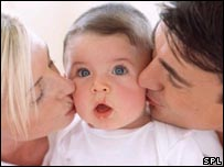 Image of mum, dad and baby