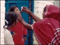 Image of polio immunisation