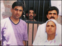 Mirza Tahir Hussain with members of his family