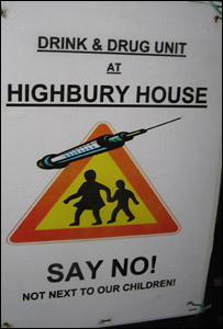 Sign outside Highbury House