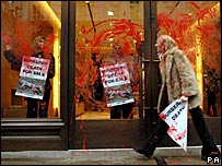 Anti-fur protest by Peta activists