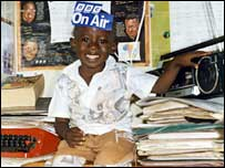 A young BBC listener in Kenya