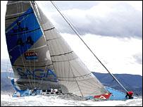 British sailor Sir Robin Knox-Johnston on board Saga Insurance