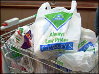 Trolley full of shopping from Curley's