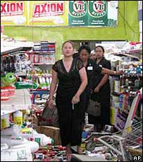 Looted supermarket in Nuku'alofa