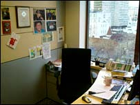 Phil Lynch's desk