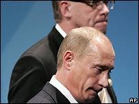Matti Vanhanen and Vladimir Putin