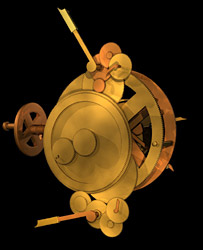 Dibujo del mecanismo (Cortes�a de Antikythera Mechanism Research Project)