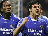 Didier Drogba and Michael Ballack
