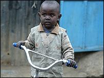 A child in Nairobi