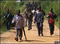 Militia fighters in Ituri in June 2003