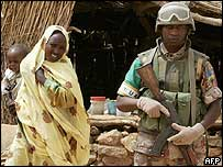 African Union peacekeeper in Darfur