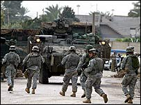 US combat troops in central Baghdad this month