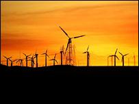 Wind turbines (BBC)