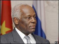Angolan President Jose Eduardo dos Santos