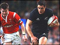 Dan Carter in action against Wales