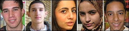 Imagen compuesta de algunos de los alumnos de Bagdad y Londres que participan en el programa