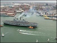 Ark Royal in Portsmouth