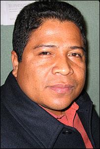 Luis Evelis Andrade, presidente de la Organizaci�n Nacional Ind�gena de Colombia