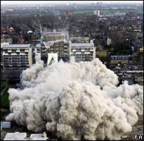 Housing tower demolition