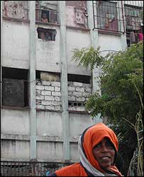 Families living in former Somalia Airline building