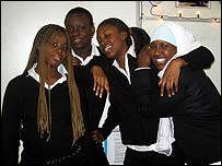 Samira and her friends in FAB