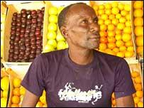 Fruit seller in Mauritania