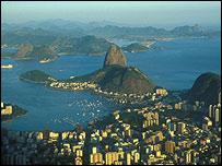 Vista a�rea de R�o de Janeiro