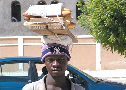 Bread seller in Nouakchott