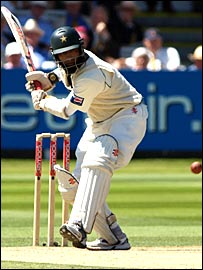 Mohammed Yousuf on his way to scoring 202 against England at Lord's