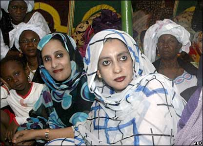 Mauritanian women, members of the Assembly of Democratic Forces