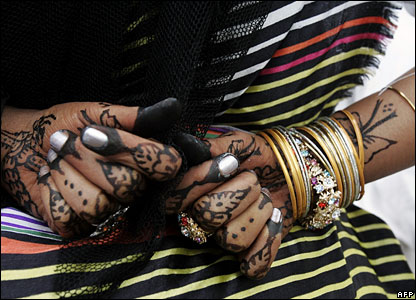 Hands of dancer in Djibouti