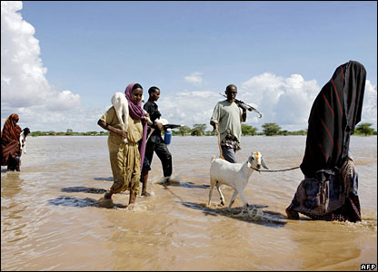 People displaced by floods in Kenya