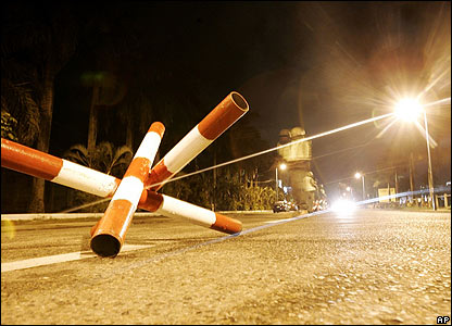 Checkpoint in Suva overnight on 29/30 November 2006