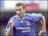 Chelsea striker Andriy Shevchenko