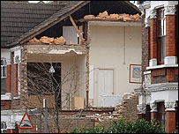 Tornado damage in Kensal Rise