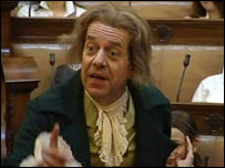 Chris Cade plays Wilberforce