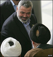 Palestinian PM Ismail Haniya
