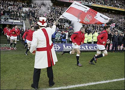 England skipper Martin Corry leads his side out at Twickenham