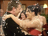 Alfie Moon (Shane Ritchie) and Kat Slater (Jesse Wallace)