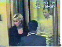 Princess Diana and Dodi Al Fayed arriving at the Ritz on 30 August 1997
