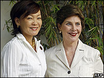 Akie Abe and Laura Bush at Apec in Hanoi on 19 November 2006