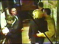 CCTV footage of Princess Diana
