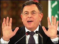 Lebanese PM Fouad Siniora