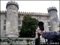 A photographer at Castello Odescalchi