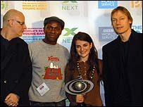 Silva with judges Jeff Travis, Gary Powell and William Orbit