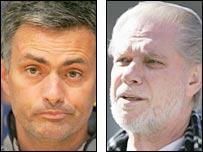 Jose Mourinho and David Gold