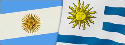 Banderas de Argentina y Uruguay